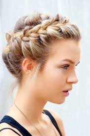 Pictures On Braided Updos Short Hair Shoulder Length Hairstyles Hairdos For Short Hair Braids