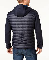 Michael Kors Men's Packable Hooded Quilted Jacket - Coats ... & Image 2 of Michael Kors Men's Packable Hooded Quilted Jacket ... Adamdwight.com