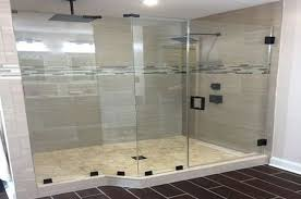 when installing glass shower doors
