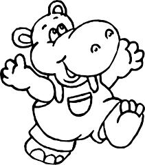Kid Hippo Coloring Page Wecoloringpagecom