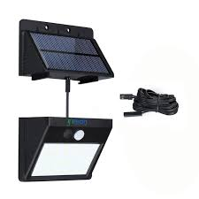 Solar Sensor Light Big W Ifitech Outdoor Solar Lights Waterproof 30 Led Solar Motion Sensor Lights Separable Panel Design With 8 Ft Extension Cord For Front Door Garden