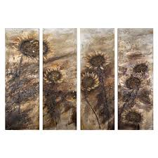 yosemite home decor 59 in x 78 in sunflowers hand painted canvas on brown wall art canvas with yosemite home decor 59 in x 78 in sunflowers hand painted canvas