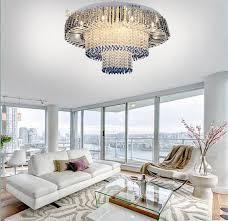 new design modern 3 layers led crystal chandelier ceiling lamp home decor lighting hotel lobby light