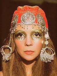 makeup idea hippie chic boho chic 60s hippie makeup 60 s shimmery exotic makeup decorative turban chic inspirations fashion hippie