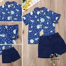 Bộ áo sơ mi và quần ngắn phong cách thanh lịch trang trọng thời trang hè  dành cho bé trai, Giá tháng 10/2020