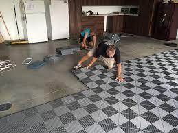 the best garage floor tile covering