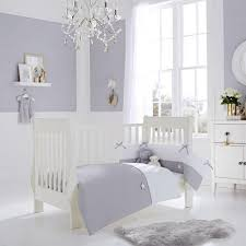 clair lune grey white silver lining cot quilt and per bedding view larger crib boy nursery