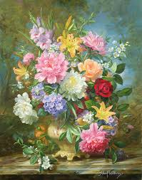 hydrangea painting peonieixed flowers by albert williams
