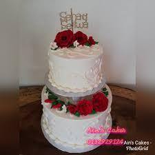 Wedding Cake 2 Tingkat Rm100 Wssap Ains Cakes Temerloh
