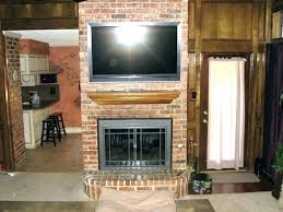 mounting tv above brick fireplace mount on brick fireplace mounting above fireplace hiding wires to mount