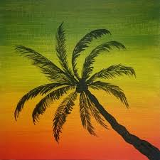 how to paint palm tree easy painting