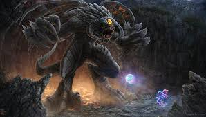wallpaper dota 2 puck roshan dota 2 sorcery demons fantasy games