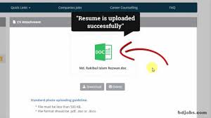 How To Upload A Resume Youtube