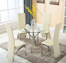 round glass dining room tables and chairs