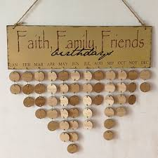 diy wooden faith family and friends birthday calendar reminder board round