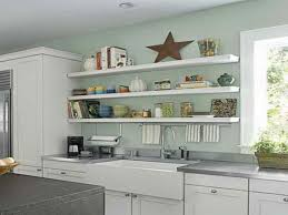open wood shelves in kitchen natural glass wine aluminium single bowl sink stainless steel electric oven