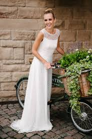 wedding dress with straps made of transpa lace with our nanette you are a real eye catcher even without accessories