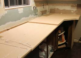 the countertops have to be pulled away from the wall when you place the laminate on so just keep that in mind
