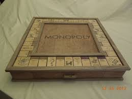 Wooden Monopoly Board Game