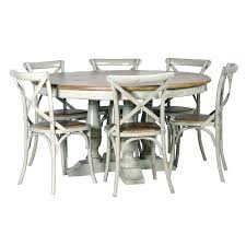 grey round dining table reclaimed