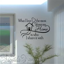 Vinyl Wall Quotes Beauteous Love Home The People I Share It With Vinyl Wall Decal Quote