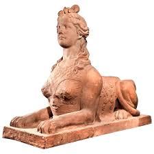 Sphinx signed u. dated V. Felix Austin : Eric Meletta Kunst & Antiquitäten  | RubyLUX