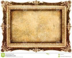 antique frame. Antique Frame. With Old Canvas Stock Image Frame