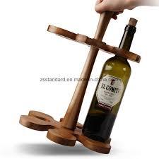china solid wood wine glass rack wine bottle display holder china wine rack wine bottle holder