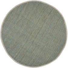 natural fiber gray 9 ft x 9 ft round area rug