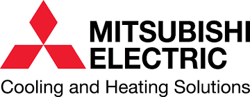 mitsubishi electric cooling and heating logo. has earned and been awarded mitsubishi elite diamond contractor status. #1 in broward palm beach county. winning the excellence customer service award electric cooling heating logo t