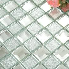 mirror glass tile backsplash silver diamond crystal square wall tiles bathroom washroom mirrored antique