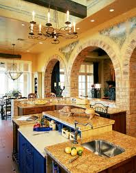Fetching Kitchen Interior Design With Country Style Kitchen Sinks :  Entrancing Italian Country Kitchen Decoration Using