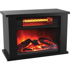 lifepro lifesmart infrared quartz heater mini fireplace 750 watt wood com