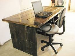 rustic computer desk ideas