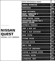 1999 nissan quest van repair shop manual original 2004 Nissan Quest Wiring Diagram covers all 1999 nissan quest models including gxe, se and gle this book measures 8 5\