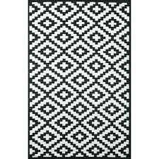 black and white outdoor rug home light weight reversible indoor outdoor rug x cm black white