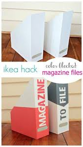 Ikea Wooden Magazine Holder Simple Ikea Hack Magazine Holder Makeover IF I WAS CRAFTY Pinterest