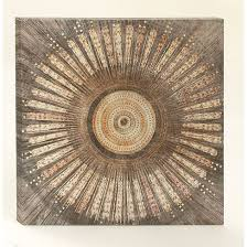 urban designs circling brown canvas metal wall art overstock shopping the best on urban designs canvas wall art with urban designs circling brown canvas metal wall art overstock