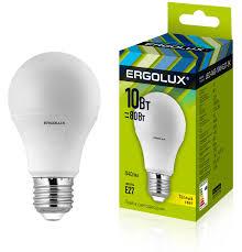 <b>Ergolux LED</b>-<b>A60</b>-<b>10W</b>-E27-3K (Эл.<b>лампа светодиодная</b> ЛОН ...