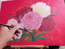 how to paint flowers acrylic painting tutorial