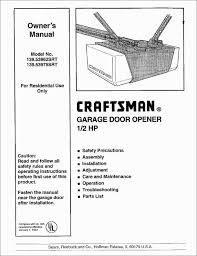 craftsman garage door opener reset