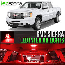2014 Gmc Sierra Interior Lights Details About 2007 2013 Gmc Sierra Red Interior Led Lights Kit Package License Lights