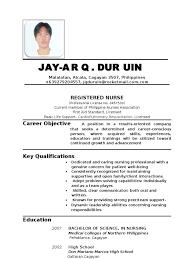 ... sample resume for filipino nurses applying abroad augustais ...