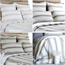 topic to pleasant linen ticking stripe mermaid long ruffle duvet cover handcrafted bedding ikea linen ticking striped duvet cover with mermaid long