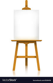 easel with a blank canvas vector image