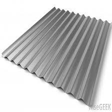 white corrugated metal sheet