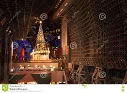 Kyoto Christmas Lights Christmas Tree And Kyoto Tower Editorial Stock Photo Image