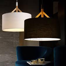 fabric pendant lighting. brief drum pendant light fabric shade black lighting