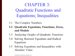 chapter 3 quadratic functions and equations inequalities