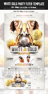 Party Flyer Gorgeous White Gold Glamour Party Flyer Template By NaceGraphics GraphicRiver
